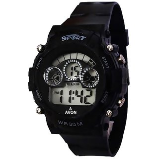 true choice new look analog watch for men with 6 month warranty Black Sport watch