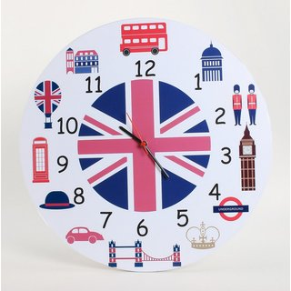 Baby Oodles London Theme Wall Clock