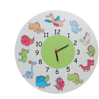 Baby Oodles Monster Theme Wall Clock