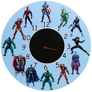 Baby Oodles Super Heroes Assemble Theme Wall Clock