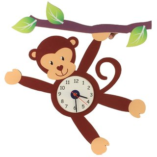 Baby Oodles Monkey Wall Clock