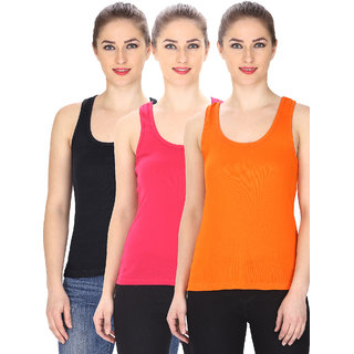 Friskers Multi Color Camisole & Tank Top Pack of 3