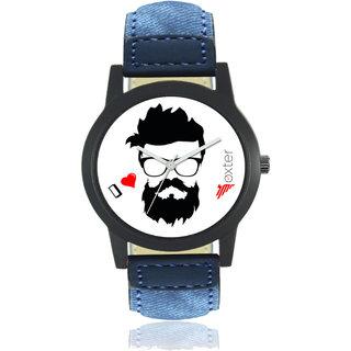 Style Loft Foxter Men Multicolor Dial Leather Strap Watch