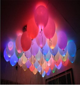 LED Balloons 10Pcs Glowing Multicolor Party