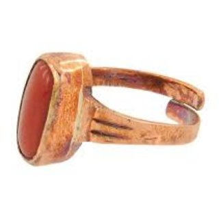 6.50 ratti Natural Red coral Adjustable ring