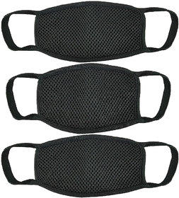 Black Riding and multipurpose face mask set of 3