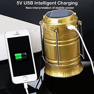 Solar Rechargeable Led Camping Lantern Lamp Light Emergency Lantern