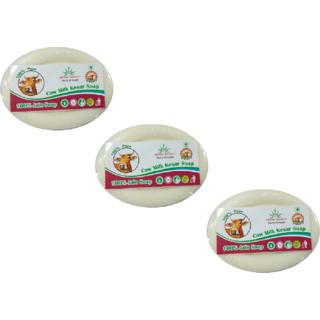 Aryanshakti Cow Milk Kesar Soap (Pack of 3)