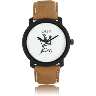 TRUE CHOICE NEW BRAND KING BROWN ANALOG WATCH FOR MEN WITH 6 MONTH WARRANTY