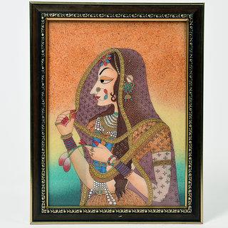 shoppingtara World Famous Jaipuri Artwork Cute Ethnic Bani Thani Gemstone Painting