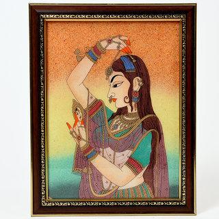 shoppingtara Pretty Princess Bani Thani Fine Finished Handicraft Gemstone Painting