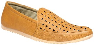 Stylos Men's 1036 Tan Synthetic Leather Loafers