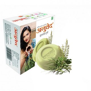 3 Herbal Tulsi Durva 125 gm each Soaps with Free Face Pack
