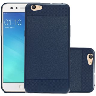 ECS Back Case, Lightweight,Shock Absorbing Soft Back Case Cover With Camera protection For Micromax Canvas 2 Q4310 (2017) - Dark Blue