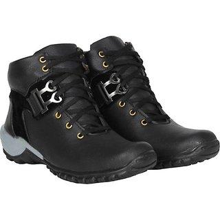 Layasa Men's Black Casual Shoes
