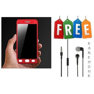 Samsung Galaxy S7 Edge 360 Degree Full Cover With Free Earphone - Red  - Super Value Combo Offer