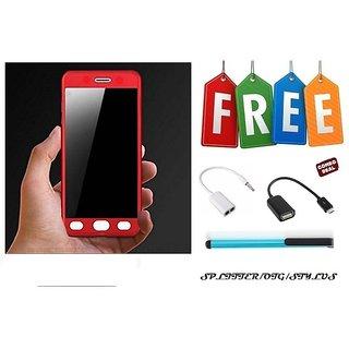 Samsung Galaxy S7 Edge 360 Degree Full Cover  + OTG Cable + Stylus + Audio Splitter - Red  - Super Value Combo Offer
