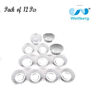 12 pcs aluminium Bakeable Muffin Cup Christmas FLOWER Baking Cups Cake Cups Muffin Wraps Cases Aluminium Cup By WELLBERG