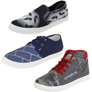 cae108c5b Buy Bersache Men Boys Combo pack of 3 Loafer Shoes With Casual Shoes ...
