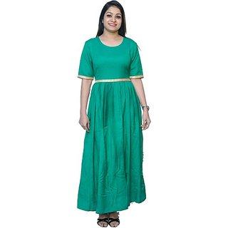 Nice Queen Women's Maxi Green Dress