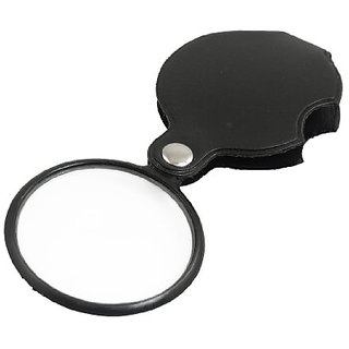 PTCMART 50mm Diameter 5X Round Magnifying Glass