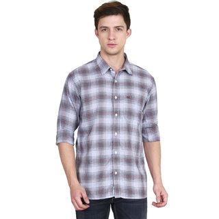 JDC Men's Casual Cotton  Shirt Blue S