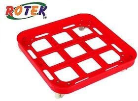 Heavy Quality Square Plastic Stand (Trolly) for Gas Cylinder  Food Container