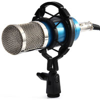 Condenser Microphone Mic Sound Studio Recording Dynamic (Works with Phantom Power Supply Or Sound Card Only)