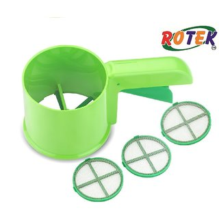 Rotek 3 in 1 Flour Shifter Strainer With Multi Purpose Scoop/Spoon