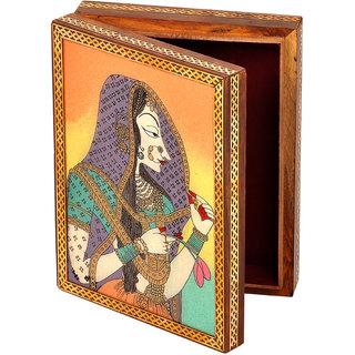 shoppingtara Gemstone Powder Bani Thani Painting Wooden Box