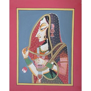 shoppingtara Rajasthani Beautiful Bani Thani Lady Painting