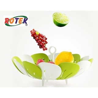 Rotek Lotus Shape Foldable Vegetable and Fruit Basket