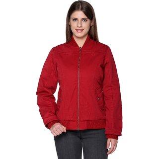 Trufit Red Cotton Biker For Women