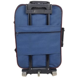Travel Hard Case Luggage Holiday Blue Red Trolly Bag Duffel 3 Wheels