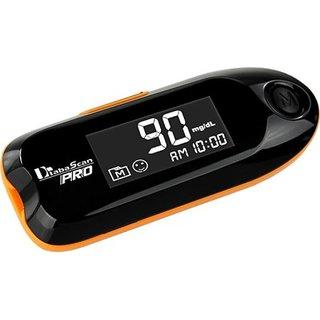 Diabascan Pro Blood Glucometer - Black (25 strips Free) Gluco One Glucometer Blood Sugar Meter Diabetes Testing Meter