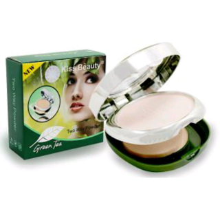 original kiss beauty green tea waterproof compact