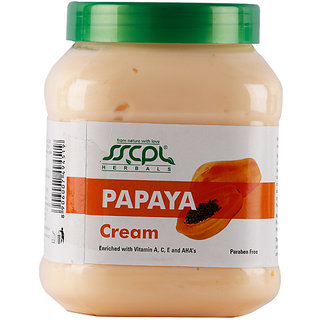 SSCPL HERBALS Papaya Massage Cream 450
