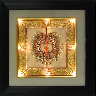 Ages Art Marble Golden Wall Clock