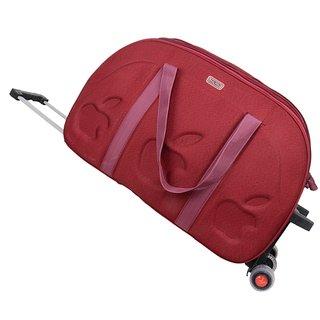 b894ddfef4 Travel Hard Case Luggage Bag Maroon Trolly Bag For Holiday Duffel Bag 3 Wheels  Traveling Bag