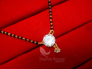 one dimond wife gift mangalsutra