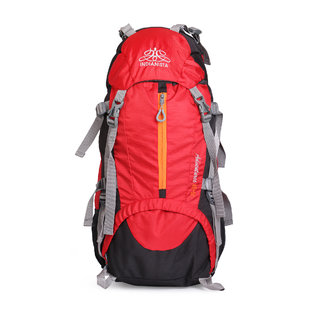 IFH Rucksack / Backpack / Trekking Bag 5015 Red 50 L with RainCover