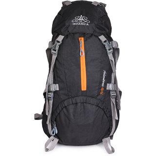 Indianista 5015 BLACK Trekking / Hiking / Rucksack / Backpack 50 Liters with Rain Cover