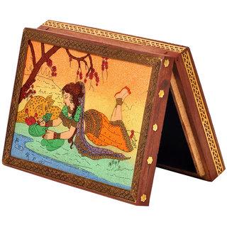 shoppingtara Wooden Jewelry Box Gemstone Meera Painting