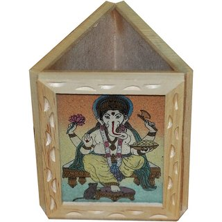 shoppingtara JaipurRaga Beautiful Gemstone Painting Wooden Pen Stand Item