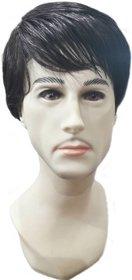 Tahiro Black Natural  Hair Wig For Men  - Pack Of 1