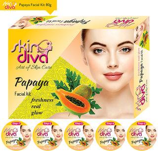 Skin Diva Papaya Facial Kit 80gm