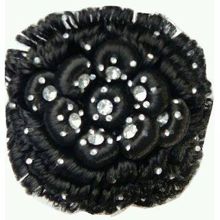 Tahiro Black Desi Studded Casual Juda - Pack Of 1