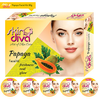 Skin Diva Papaya Facial Kit 80gm