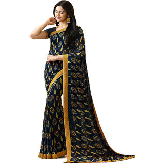 e153f952d55e0 Buy Genius Creation Bollywood Design Blue Color Georgette Printed Saree  Online - Get 70% Off