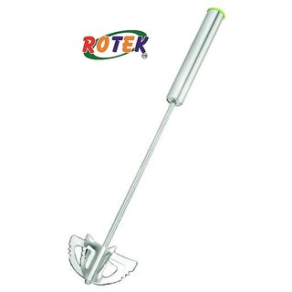Rotek Stainless Steel Hand Push Whisk Blender for Home - Spring Rawai for Egg Beater Milk Frother Hand Push Mixer Stirrer
